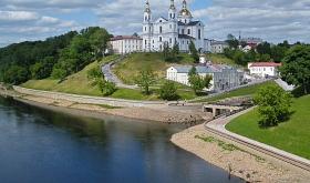 Die Altstadt von Witebsk mit der (wieder errichteten) Uspensky Kathedrale