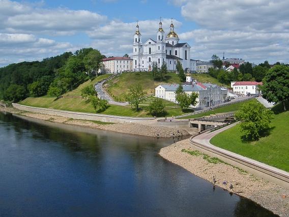 Die Altstadt von Witebsk mit der (wieder errichteten) Uspensky Kathedrale©Nienburg - Freundschaften weltweit e.V.