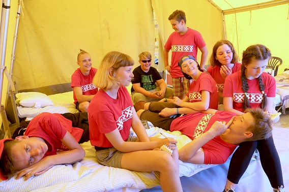 Teilnehmer aus Weißrussland beim Kreiszeltlager©Nienburg - Freundschaften weltweit e.V.